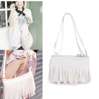 Women's Leather Shoulder Bags Designer Tassel Messenger Bag Luxury Ladies Handbag Samll Croosbody bag Clutch Bags Bolsa Feminina