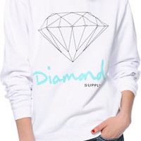 Diamond Supply Co. OG Script White Crew Neck Sweatshirt