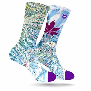VAIL MARIJUANA LEAF SOCKS
