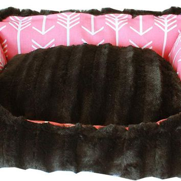 Reversible bumper dog bed Coral Arrow XS