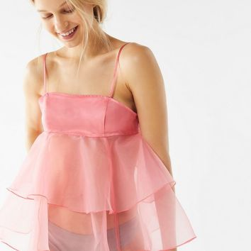 Out From Under Jasmine Tiered Tie-Back Cami | Urban Outfitters