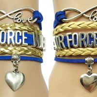 Military Airforce Mom Wife Bracelet