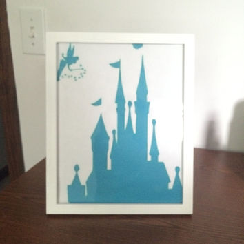 Princess Castle Silhouette Picture Frame
