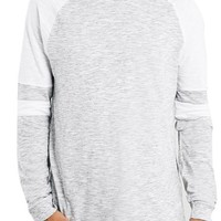 Topman Colorblock Raglan Long Sleeve T-Shirt | Nordstrom