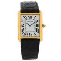 Cartier Tank Solo 18k Yellow Gold Large Watch W1018855