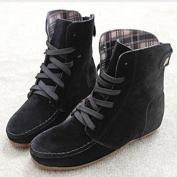 2015 Spring and winter boots snow boots for women martin pu leather british style ankle boots shoes women botas femininas 35-41