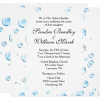 Fun Fantasy Bubbles Wedding Invitation