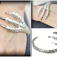 DRAGON CLAW BRACELET inspired by Game of Thrones, Claw Bracelet, Silver bracelet, Talon Bracelet, Unique Jewelry for men & women