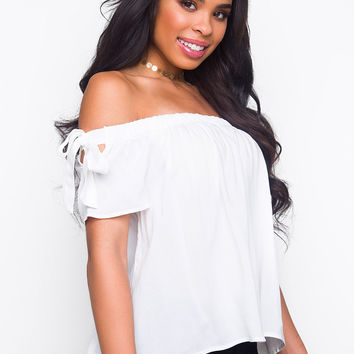 Kennedy Off The Shoulder Top - White