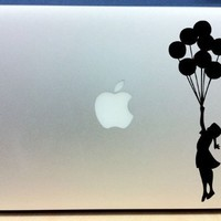 Banksy - Girl With Balloons - Vinyl Macbook / Laptop Decal Sticker Graphic