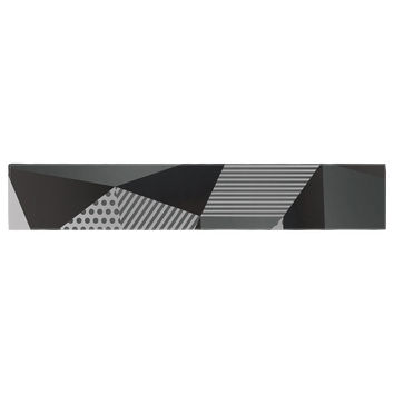 "Louise Machado ""Gray Pallete"" Black Gray Table Runner"