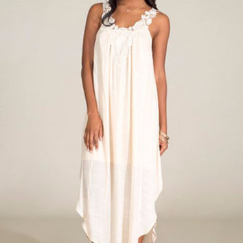 Cream of the Crop Maxi Dress-Flying Tomato-Color Cream