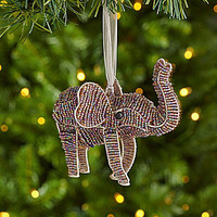 Dillard´s Trimmings R.S.V.P. Beaded Elephant Ornament | Dillards.com