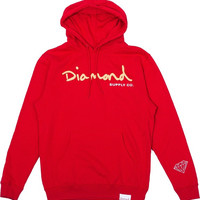 Diamond Og Script Hoodie/Sweater XLarge Red