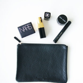 Black Genuine Leather pouch