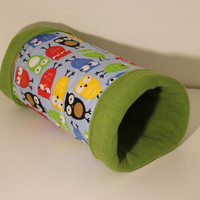 Guinea Pig Tunnel Ferret Tube Reinforced Hedgehog Hidey Cavy Snuggle Cozy Rat Sleepy Pocket Pet Bed Small Pets Home Birds Owls Cotton Fleece