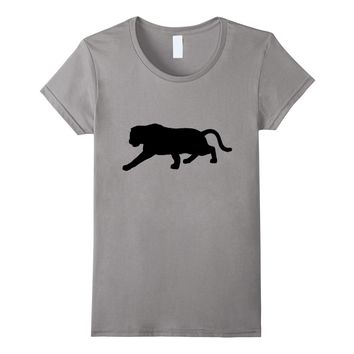 Cool Panther Silhouette t-shirt Black Leopard Animal tee