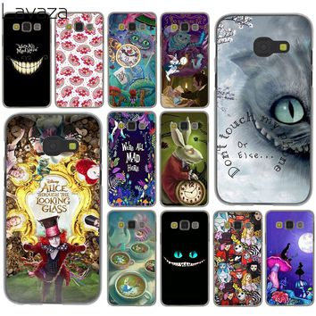 Lavaza Alice in Wonderland cat Case for Samsung Galaxy A6 A8 Plus 2018 A3 A5 2017 2016 2015 Grand Prime Note 9 8 Cover