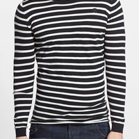 Men's G-Star Raw 'Meeflic' Stripe Crewneck Sweater