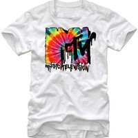 MTV Melted Tie Dye Logo T-Shirt