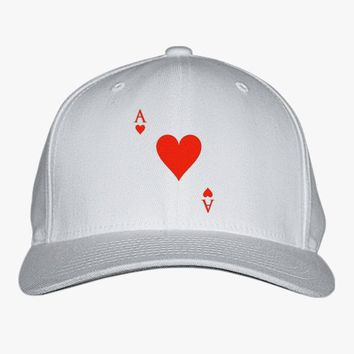 Ace Of Hearts Embroidered Baseball Cap