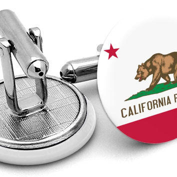 State Flag California Cufflinks