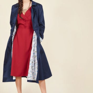 A Prominent Polish Trench | Mod Retro Vintage Coats | ModCloth.com