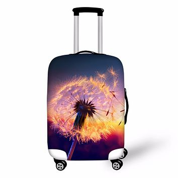 FORUDESIGNS Dandelion Travel Luggage Cover Protector Suitcase Cover Thick Elastic Perfectly Dust Cover Apply to Hot Fashion Girl