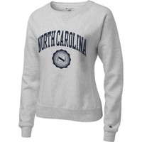 Champion North Carolina Tar Heels Women's Silver Gray Champion Seal Reverse Weave Crewneck Sweatshirt