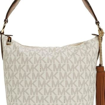 Michael Kors 10.5-Inch Elana Shoulder Bag, Vanilla