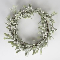 Frosted Christmas Mistletoe Wreath