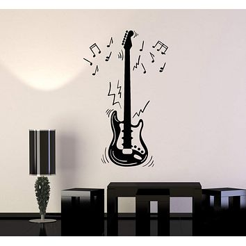 Vinyl Wall Decal Electric Guitar Notes Musical Instrument Music Art Stickers Mural (ig5287)