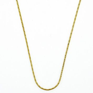 Gold Layered 5.223.030.1.18 Basic Necklace, Long Box Design, Polished Finish, Golden Tone