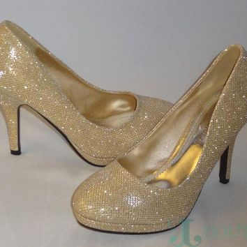 Michael Angelo Sparkly Gold shoes