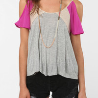 Lucca Couture Cold Shoulder Mix Tee
