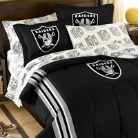 Oakland Raiders 5-Piece Full Bed Set (Oak Team)