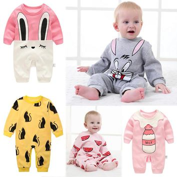 2018 baby clothes newborn one piece romper baby pajama infants clothes infants girls boys jumpsuits baby girls dress coverall