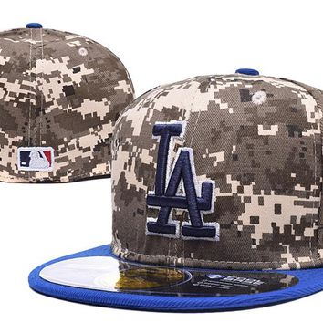 Los Angeles Dodgers 59FIFTY MLB Baseball Cap Cool Base Camouflage