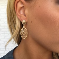 Iva Earrings In Gold