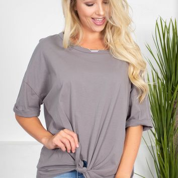 Lulu Cotton Knot Top | Colors