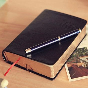 1 pcs Vintage Thick Paper Notebook Notepad Leather Bible Diary Book Journals Agenda Planner School Office Stationery Supplies