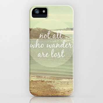 Not All Who Wander Are Lost iPhone Case by Jillian Audrey | Society6