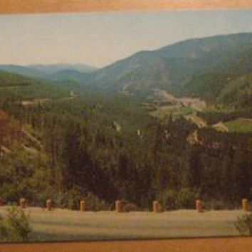 Vintage From Lookout Pass Missoula Montana Postcard