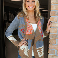 Aztec Open Cardigan