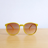Vintage 80's Sunglasses Yellow Lemonade
