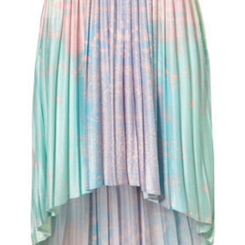 Earth Printed Dip Back Skirt - New In This Week - New In - Topshop