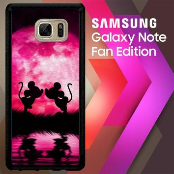 Mickey Minnie Mouse Silhouette W4418 Samsung Galaxy Note FE Fan Edition Case