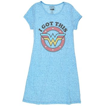 Wonder Woman Juniors Nightshirt Pajamas (Teen/Adult)