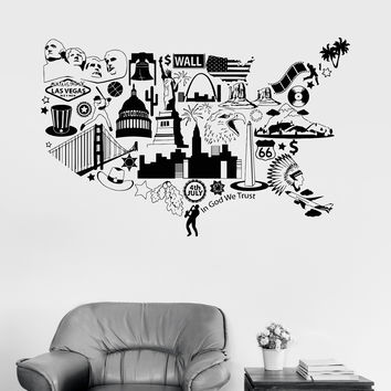 Best United States Wall Decal Products On Wanelo - Us map wall decal