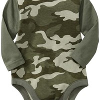 Camo Long-Sleeved Bodysuits for Baby